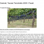 Cesinali, Taurasi Terzotratto 2005 I Favati _ L' A r c a n t e-1