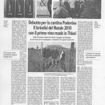 Poderosa - articolo La Nuova Sardegna dic
